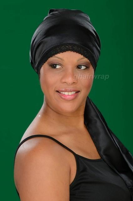 100% Silk Charmeuse G-Wrap Hair Scarf