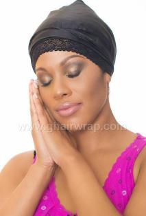 100% Silk Charmeuse G-Wrap Hair Scarf  1