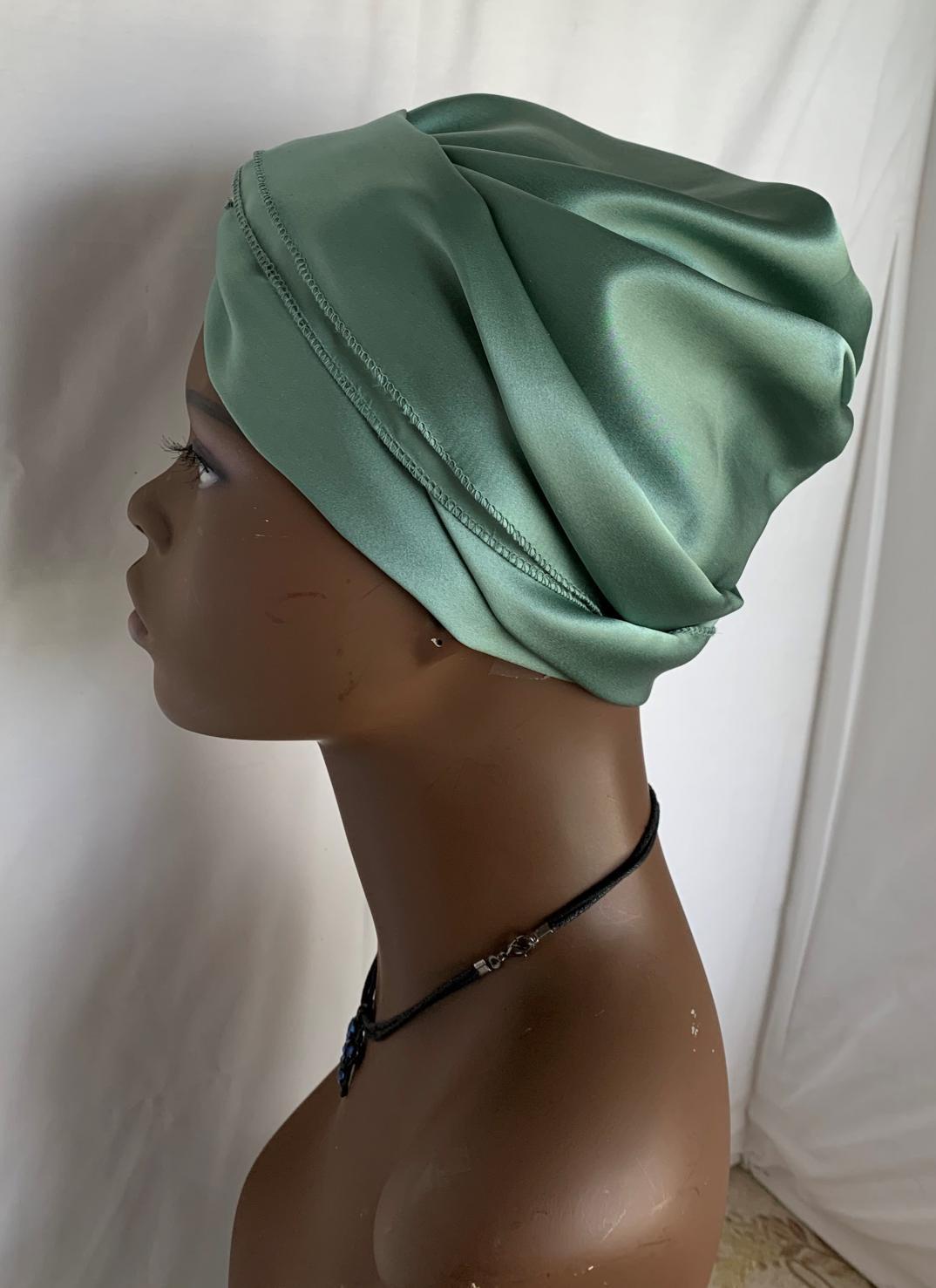 100% Silk Charmeuse G-Wrap Hair Scarf  3