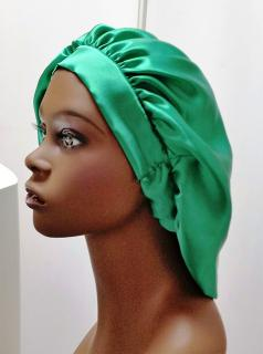 100% Silk Charmeuse Hair Bonnet  2