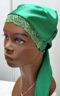100% Silk Charmeuse Stretch Lace Front, Emerald