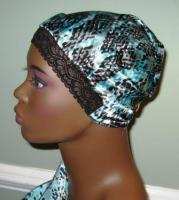 Charmuese (Satin) G-Wrap Scarf With Stretch Lace Front 4